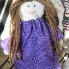 Miniature Doll in Purple Dress
