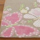 POTTERY BARN woolen 8X10 Modern Designer CAMILLE Pink Kids Rugs & Carpets