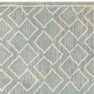 POTTERY BARN NEW Taylor Geo Porcelain Blue Mist Hand Tufted 9X12 Wool Carpet Rug