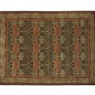 POTTERY BARN NEW Persian Cecil Green Hand Tufted 8X10 Wool Carpet Rug