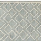 POTTERY BARN NEW Taylor Geo Porcelain Blue Mist Hand Tufted 5X8 Wool Carpet Rug