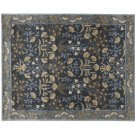 POTTERY BARN NEW Persian Adeline Blue Hand Tufted 5X8 Wool Carpet Rug