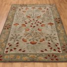 POTTERY BARN NEW Persian Adeline Multi Mist Hand Tufted 5X8 Wool Carpet Rug