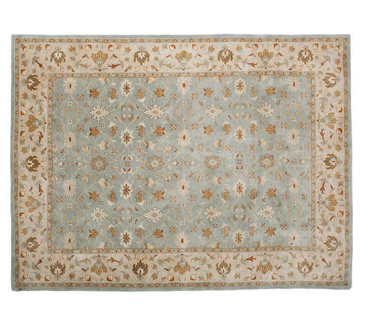 POTTERY BARN Persian Style Hand Tufted 8X10 malika Design Wool Carpet Rug