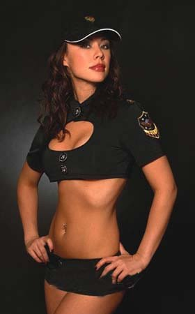 Sexy cop costume lingerie w/ hat