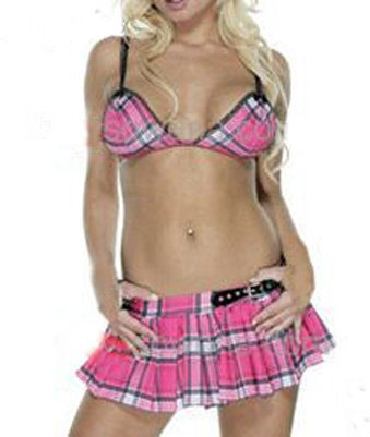 Naughty School girl bikini lingerie costume