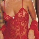 Red lace mini dress lingerie