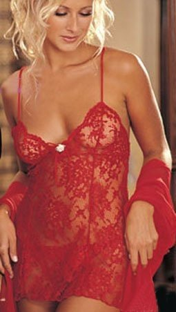 Red lace mini dress lingerie
