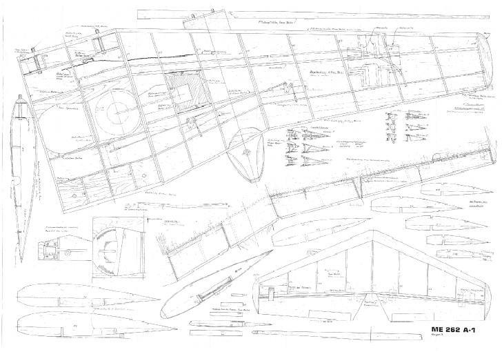 Me 262 Rc Plane Plan 78 U201d 58 U201d And 43 U201d  For Edf  U0026 Gas