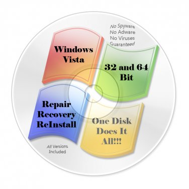 Windows Vista All Version 32 Bit & 64 Bit All In One Repair Recovery Install
