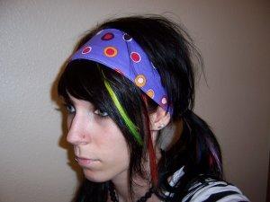 Purple Polka Dots Headband