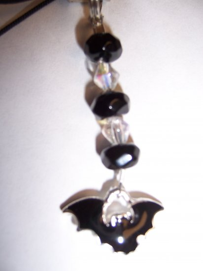 Bat Cell Phone Charm (Crystal)