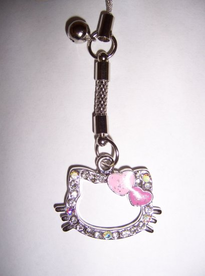 Hello Kitty Rhinestone Cell Charm