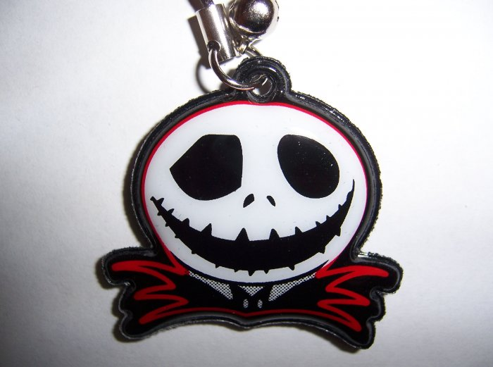 Jack Skellington Soft Pad Charm for Cell Phone or Stylus