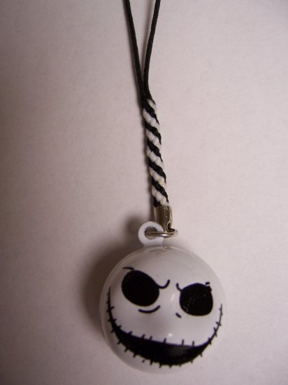 Jack Skellington Bell Cell Phone Charm
