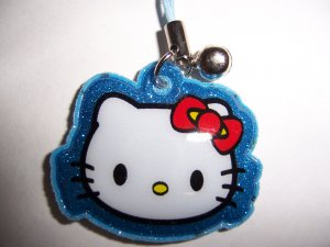 Hello Kitty Soft Pad Cell Phone Stylus Charm (Blue)