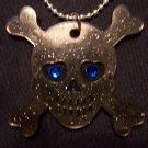 Skull and Crossbones Necklace (Black)