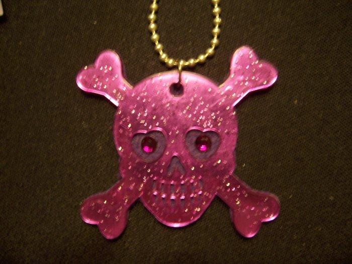 Skull and Crossbones Necklace (Purple)