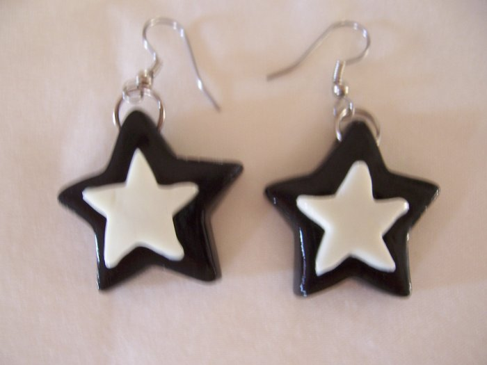 Star Earrings (Black with Glow-in-the-dark)