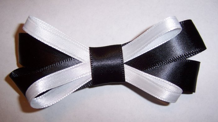 Black and White Bow