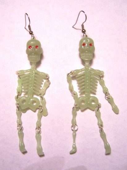 Glow-in-the-dark Skeleton Earrings