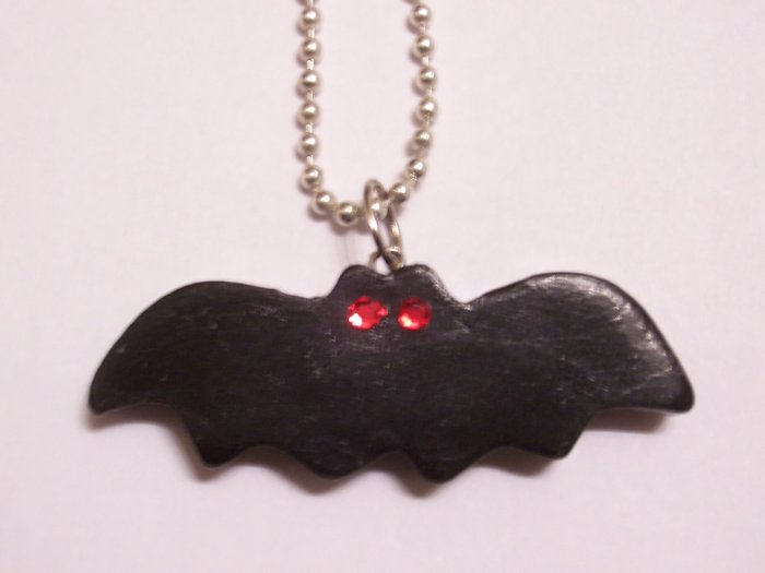 Bat Necklace (Red Eyes)