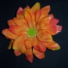 Orange Shasta Daisy Flower Barrette