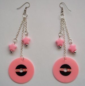 Light Pink Record Earrings