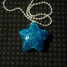 Turquoise Glitter Star Necklace