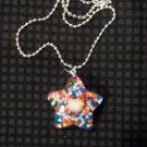 Orange Sprinkle Hello Kitty Star Necklace