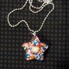 Orange Sprinkle Hello Kitty Star Necklace