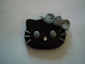 Black and Silver Hello Kitty Necklace