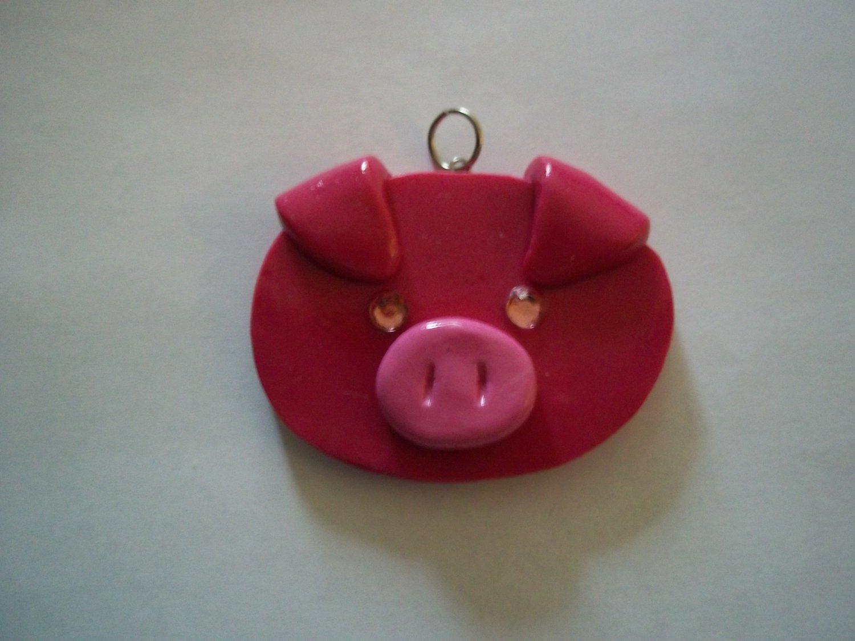 Pink Pig Necklace