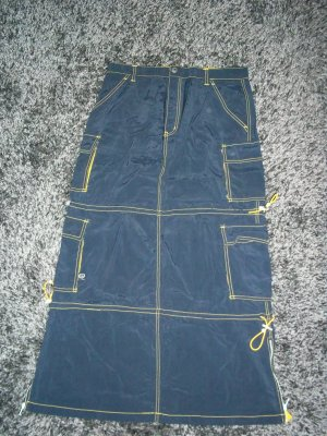 Navy Blue Mac Girl Rave Skirt