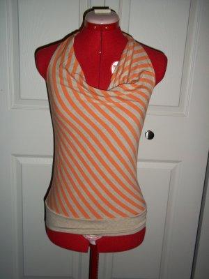 Orange stripe halter top