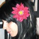 Magenta Shasta Daisy Flower Barrette