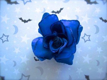 Blue Rose Barrette