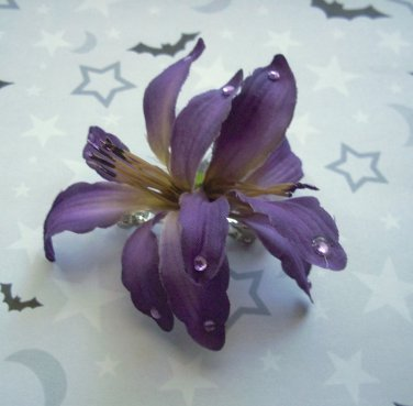 Purple Lily Barrette