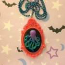 Pink and Sea Shades Octopus Cameo Necklace