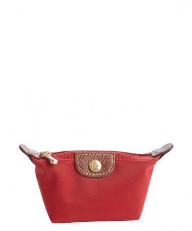 LONGCHAMP Red Nylon 'Le Pliage' Mini Coin Purse