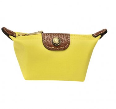 LONGCHAMP Yellow Nylon 'Le Pliage' Mini Coin Purse