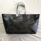 Estée Lauder Black Perforated Faux Leather Tote