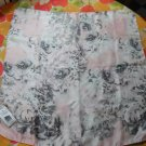 PINK TARTAN Silk Pink Floral Scarf in Pink and Grey and White Scarf
