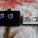 Lot Of 2 Different Sterling Silver Cufflinks