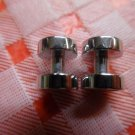 Silver Cufflink With Mother Of Pearl & Black Onyx