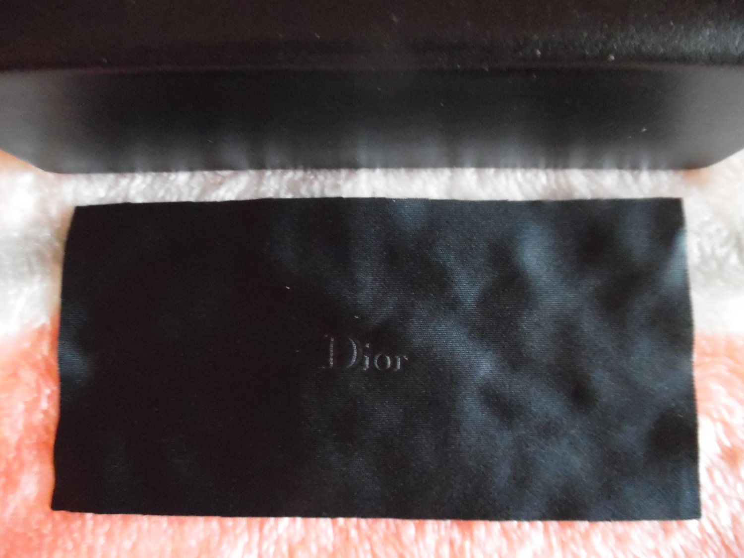 DIOR HOMME Black PU (Faux-Leather) Sunglasses Case With Cleaning Cloth