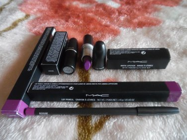 MAC Lot Of Heroine Lip Pencil And Heroine Lipstick