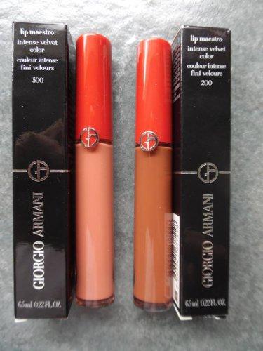 GIORGIO ARMANI Lip Maestro Intense Velvet color Combo - 500 (Blush) & 200 (Terra))