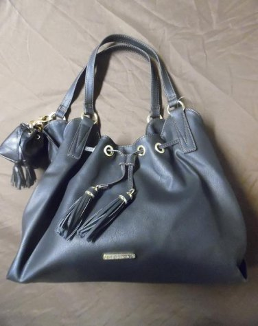 LIZ CLAIBORNE Black Shoulder Bag With REBCECCA MINKOFF Key Chain