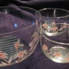 Turkish clear glass,hand-painted bowl set of 4